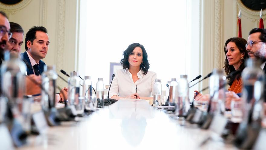 La presidenta de la Comunidad de Madrid, Isabel Díaz Ayuso, preside el Consejo de Gobierno de urgencia para determinar nuevas medidas por el coronavirus.