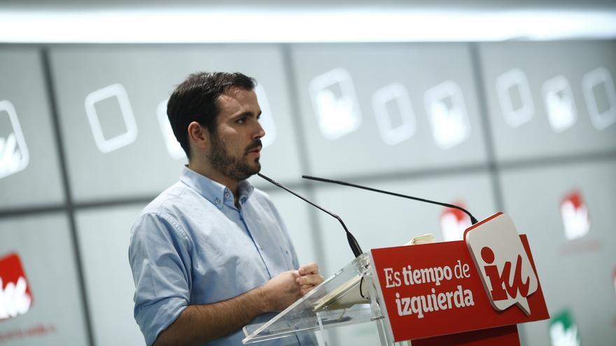 """Alberto Garzón rechaza el recurso de PP, PSC y Cs: """"Hay que resolverlo desde la política y no con recursos burocráticos"""""""