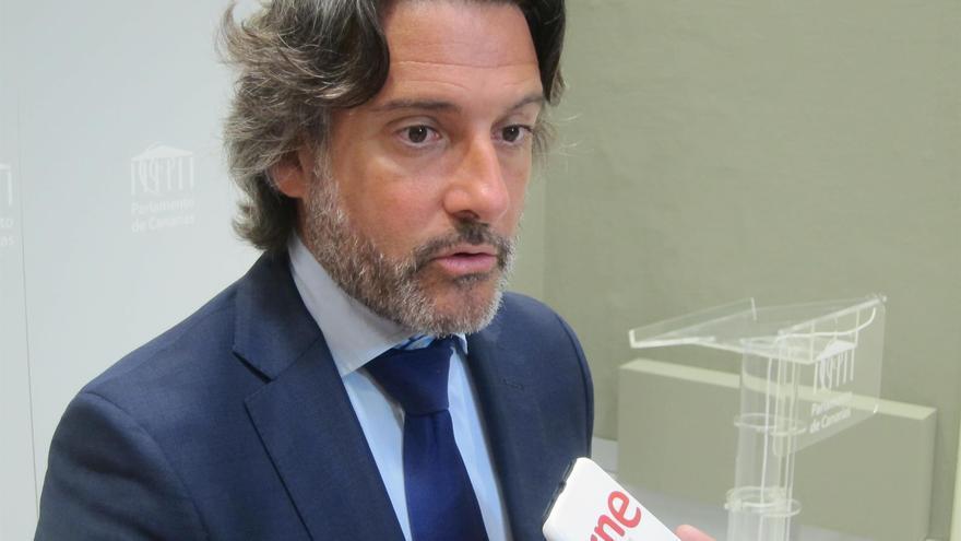 Gustavo Matos, presidente del Parlamento de canarias