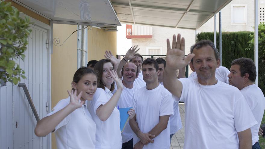 Monitores y usuarios de Residencia San Sebastián, de Fundación SAMU.