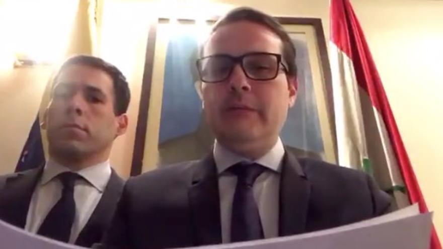 Jonathan Velasco en el vídeo difundido en redes sociales