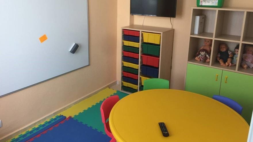 La sala infantil habilitada por la Guardia Civil en la Vila-Joiosa (Alicante)