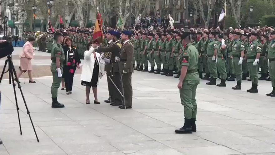 Jura de bandera de personal civil en Madrid. Imagen: @DGobiernoMadrid