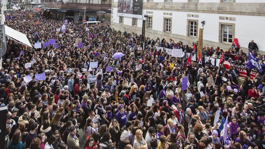 Manifestación matinal en Vigo