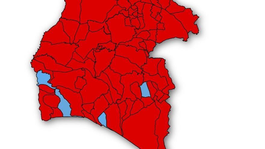 El mapa político de la provincia de Huelva tras la cita de ayer habla por sí solo.