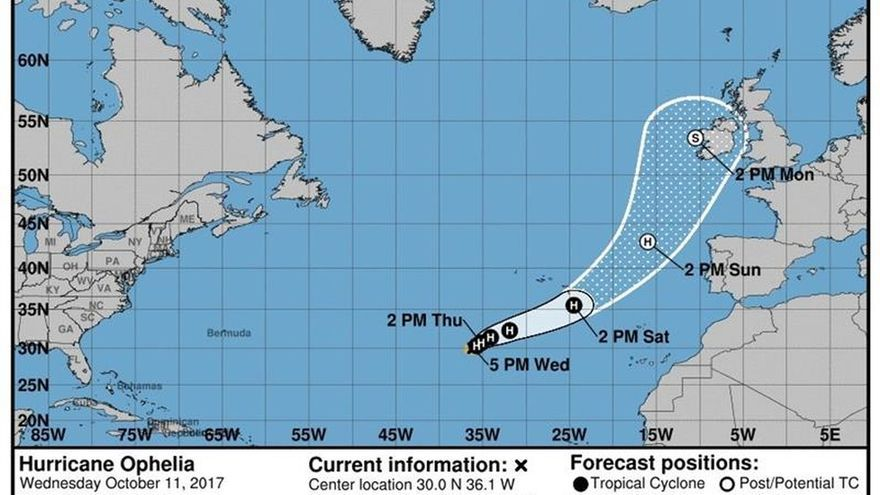 Ofelia se convierte en el décimo huracán de la temporada en el Atlántico