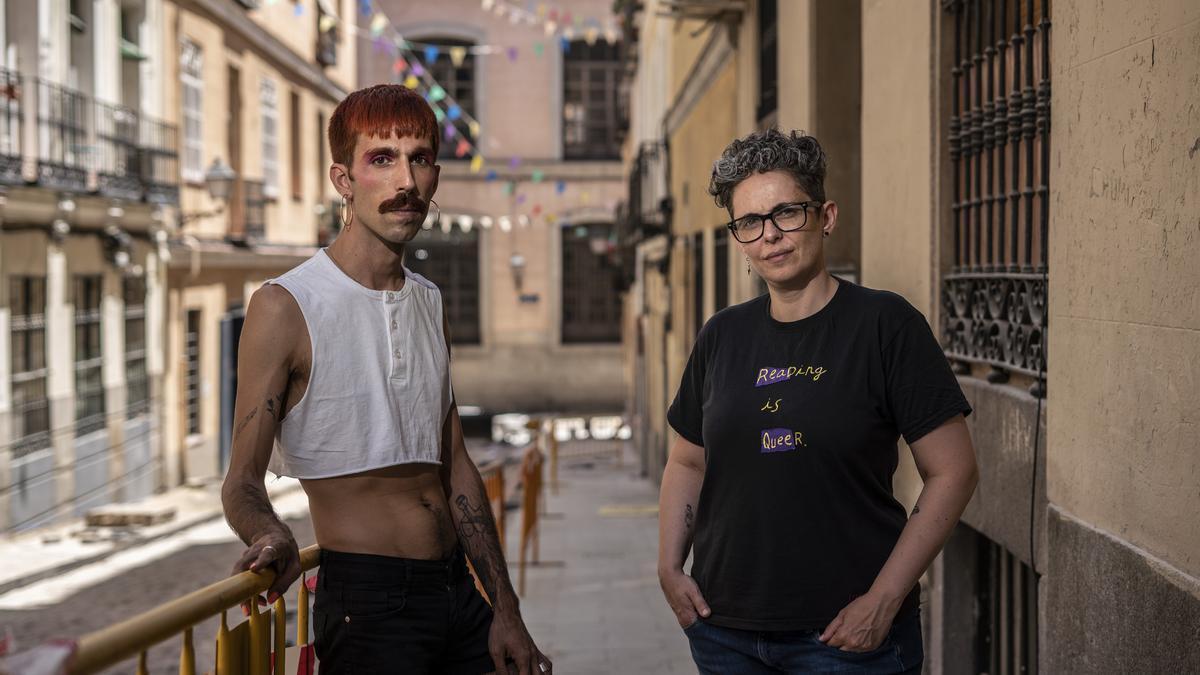 Abraham Mesa y Ana Murillo, en el madrileño barrio de Lavapiés