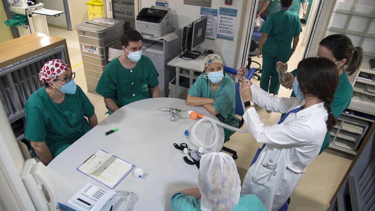 Unidad Covid de Medicina Interna.