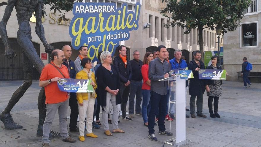 """Arraiz (EH Bildu) invita a participar en el acto del Palacio Europa a todos los que quieren """"desalojar"""" al PP"""