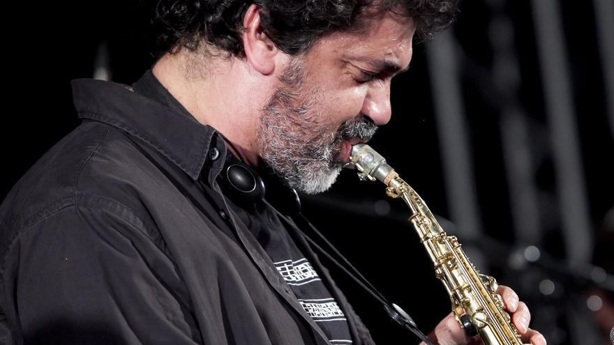 Kike Perdomo, en un concierto en 2015