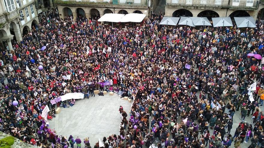 Manifestación feminista en Ourense