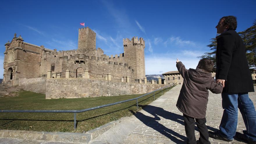 En la imagen el Castillo de Javier.
