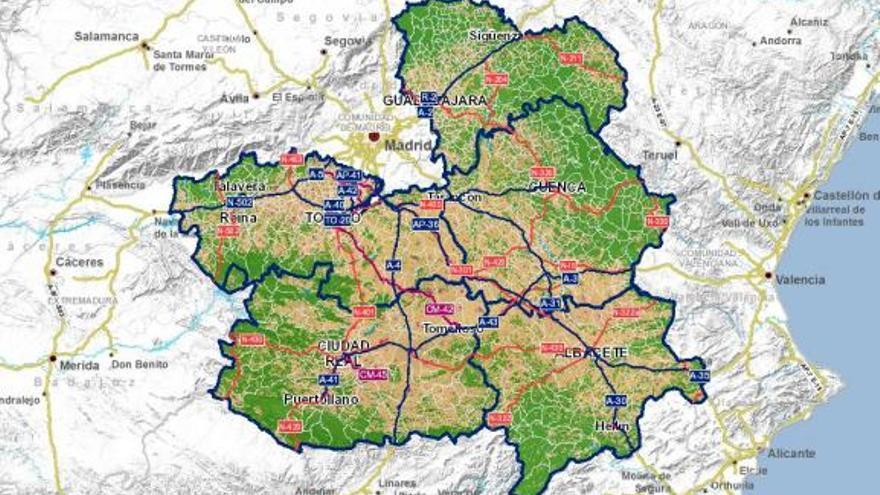 Mapa de Castilla-La Mancha