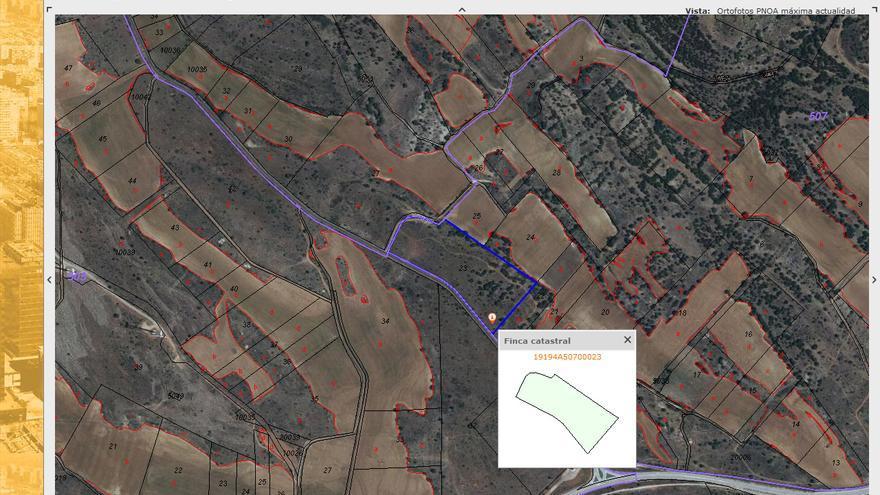 Plano de la parcela de la macrogranja que se proyecta en Luzón, Guadalajara