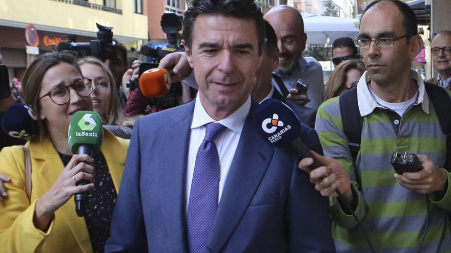 José Manuel Soria en Las Palmas de Gran Canaria.