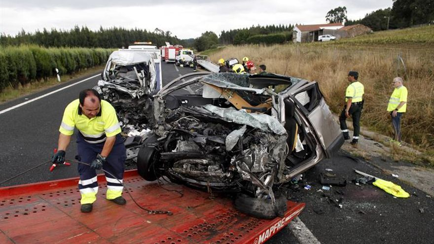 Ocho muertos en siete accidentes de tráfico durante el fin de semana
