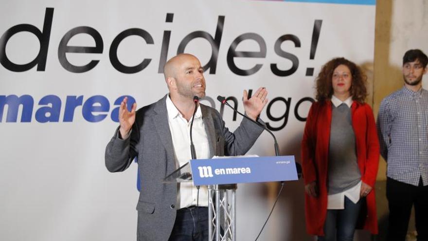Luís Villares, en un acto electoral