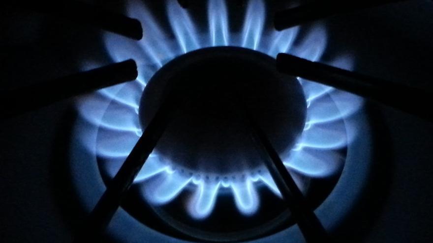 Cocina de gas natural.
