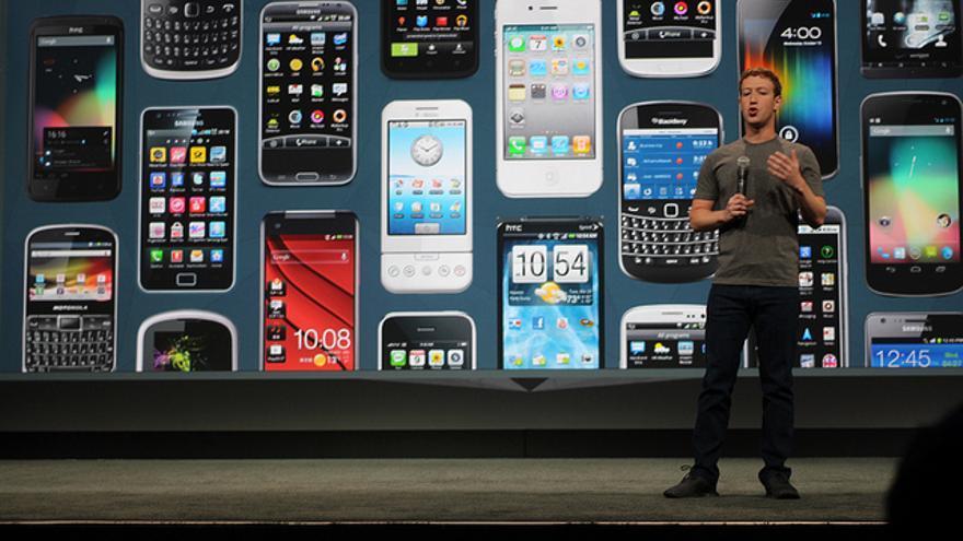 Mark Zuckerberg durante la convención F8 del 2014