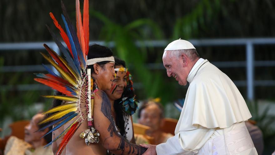 El Papa Francisco en una imagen promocional para el último Sínodo para el Amazonas.