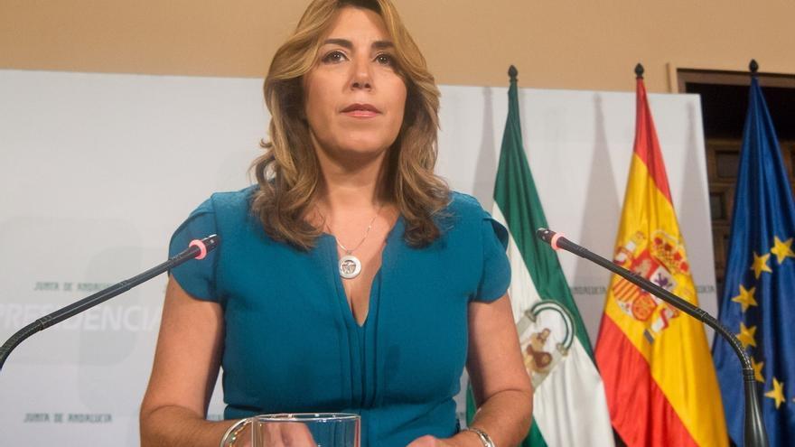 Susana Díaz muestra condolencias por la muerte del malagueño intoxicado en Santander y desea la recuperación del resto