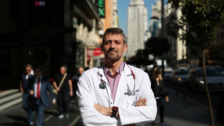 El doctor de Urgencias del hospital de Alcorcón Juan Manuel Parra / MARTA JARA