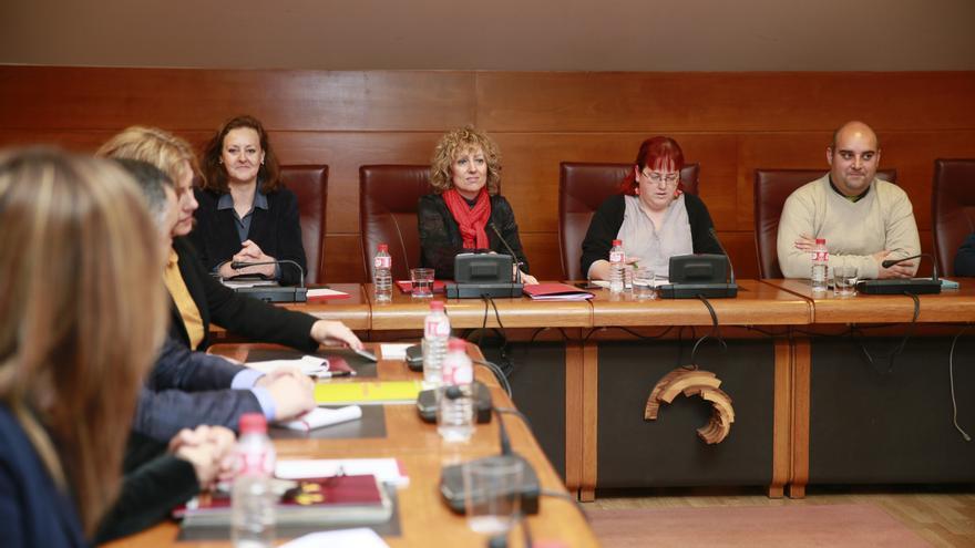 La vicepresenta Eva Díaz Tezanos durante su comparencia. | NACHO ROMERO