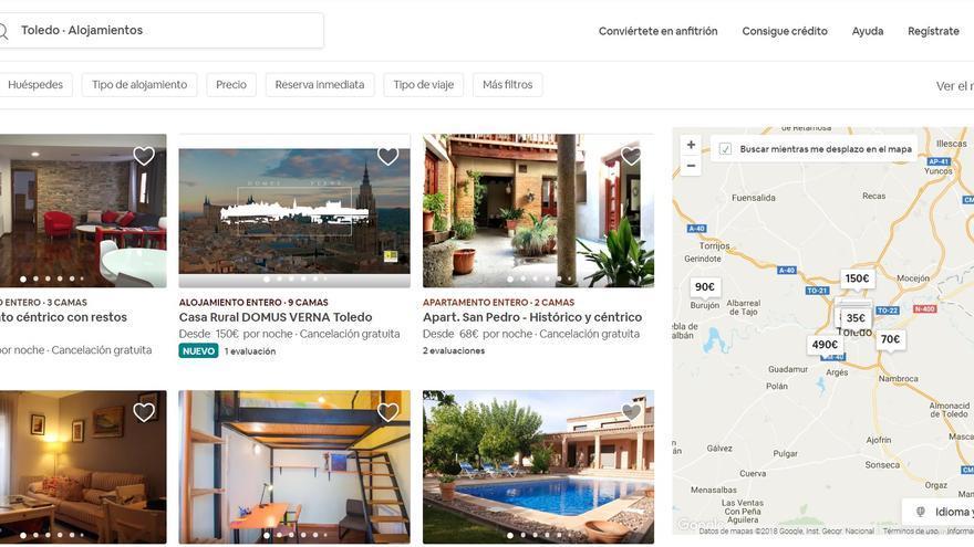 Oferta de VUT de Toledo en Airbnb