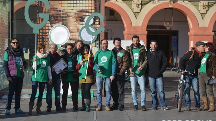 Miembros de Ganemos en un acto en la Corredera |TONI BLANCO
