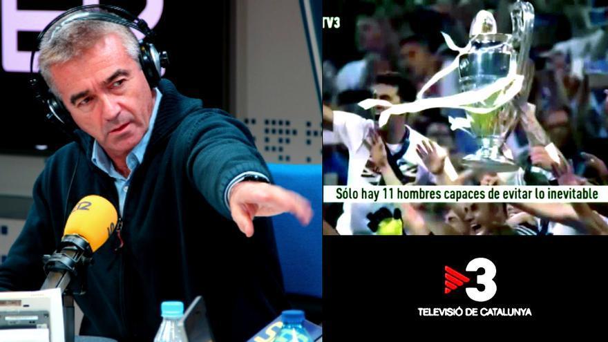 Francino, indignado con el anuncio antimadridista de TV3 para la Champions