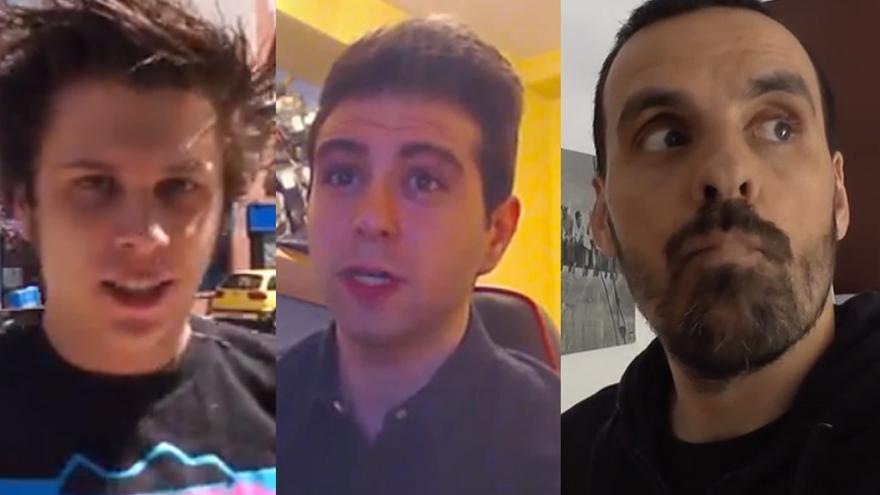 ElRubiusOMG, vegetta777 y outconsumer, tres YouTubers españoles