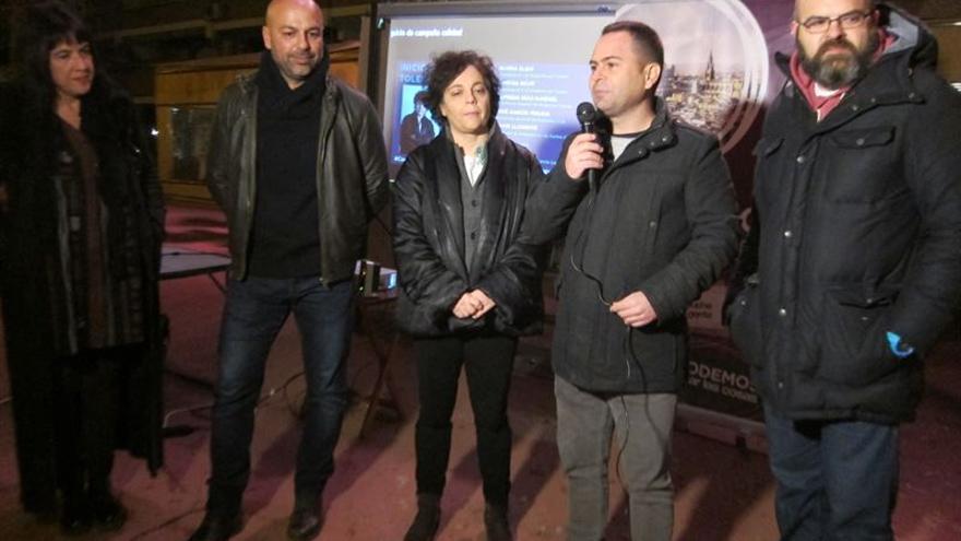 Gloria Elizo, David Llorente y José García Molina en Toledo / EUROPA PRESS