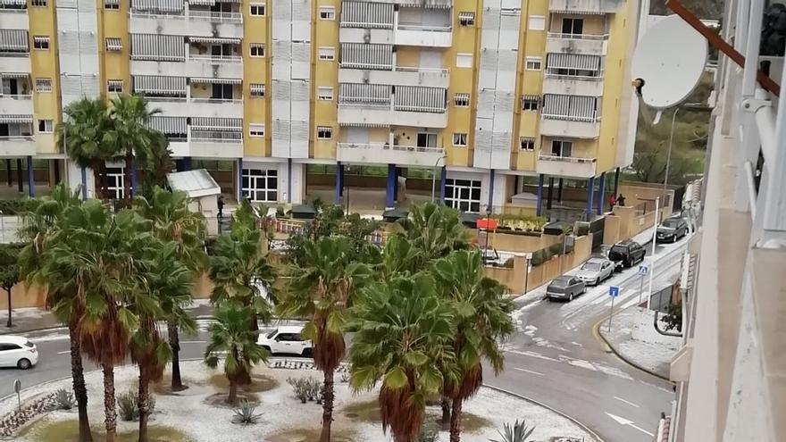 Ascienden a unas 60 las incidencias por las fuertes lluvias y granizo en Málaga
