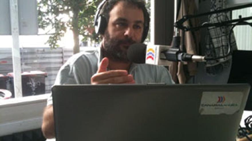 Juan García Luján, en plena actuación.