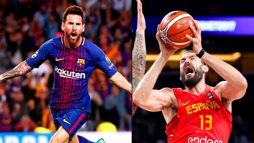 Messi y Marc Gasol