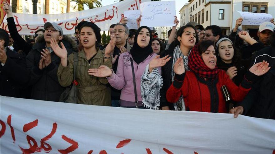 Los marroquíes tienen menos miedo a protestar gracias al movimiento 20 de febrero
