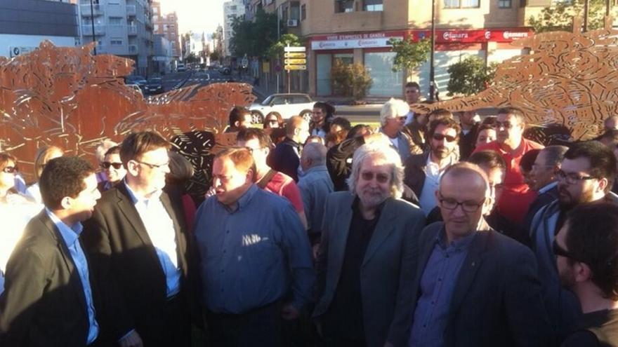 Protesta contra retirada escultura Antoni Miró Gandia Batalla Almansa