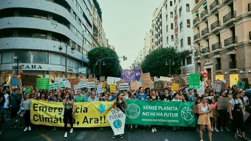 Manifestación de Fridays for Future en València.
