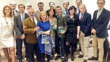 El periodista Pablo Romero y los denunciantes del caso Acuamed en los Premios Hay Derecho