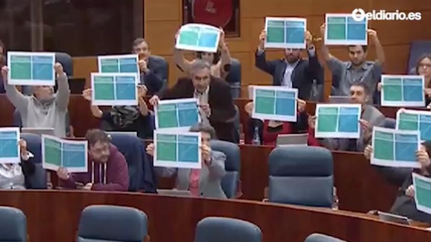Podemos, en la Asamblea de Madrid