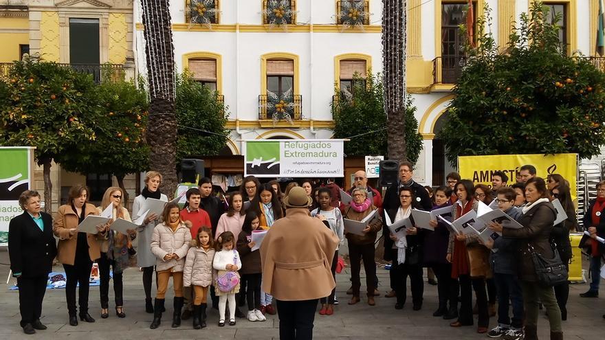 El coro Ad Libitum de Mérida interviene en el acto / JCD