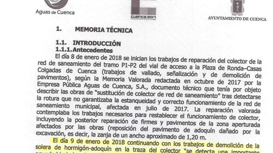 """El alcalde de Cuenca: """"El PP ya conocía la gravedad del estado del muro de la calle Canónigos desde 2017"""""""