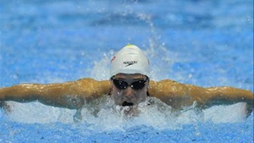 Mireia Belmonte durante la final de 200 mariposa. (Europa Press)