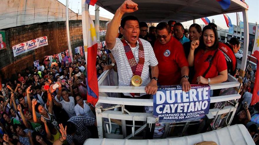 Una útima encuesta sitúa a Duterte como favorito a la presidencia de Filipinas