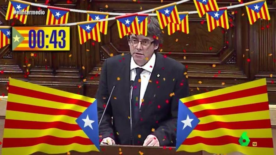 El Intermedio demuestra que la independencia catalana duró 46 segundos