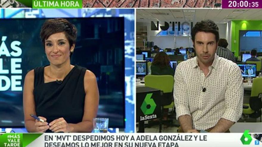 La presentadora Adela González se emociona en su adiós a 'Más vale tarde'