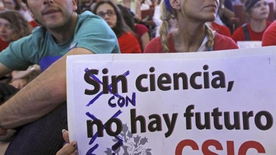 Imagen de archivo de una protesta por la falta de inversión.