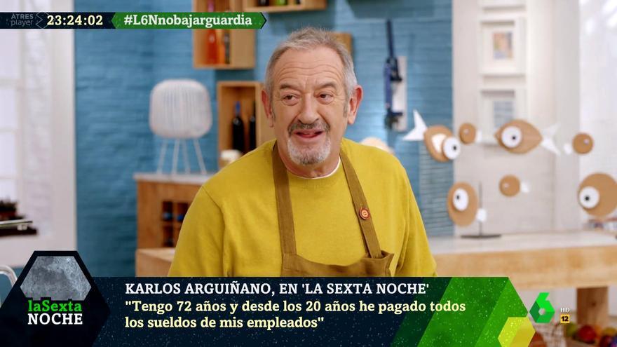 Karlo Arguiñano en 'laSexta Noche'