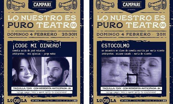 """Cartel """"Lo nuestro es puro teatro"""" febrero"""