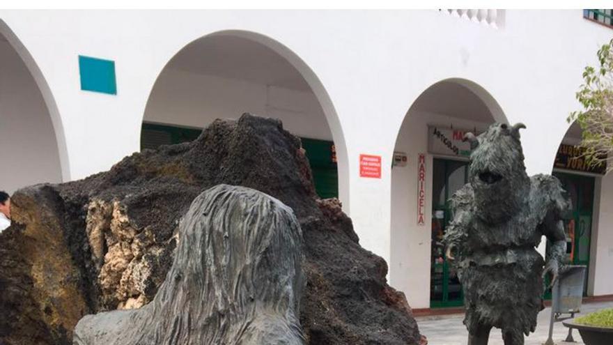 Monumento en honor a los carneros de Tigaday. (RCI)